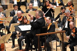 James Levine made his much anticipated return to the BSO podium on Opening Night, October 2, 2010 (Josh Reynolds for AP)
